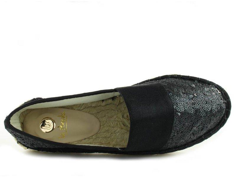 La Strada Espadrilles zwart