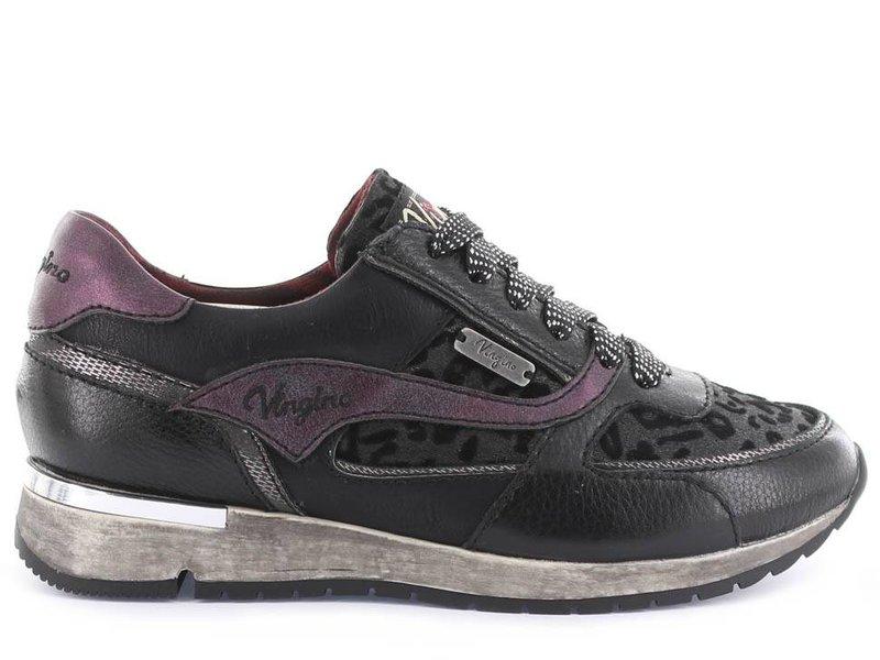 Vingino sneakers zwart panter leder