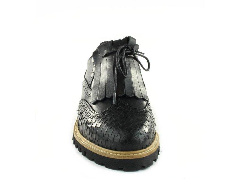 Tango Shoes Brogues zwart leder