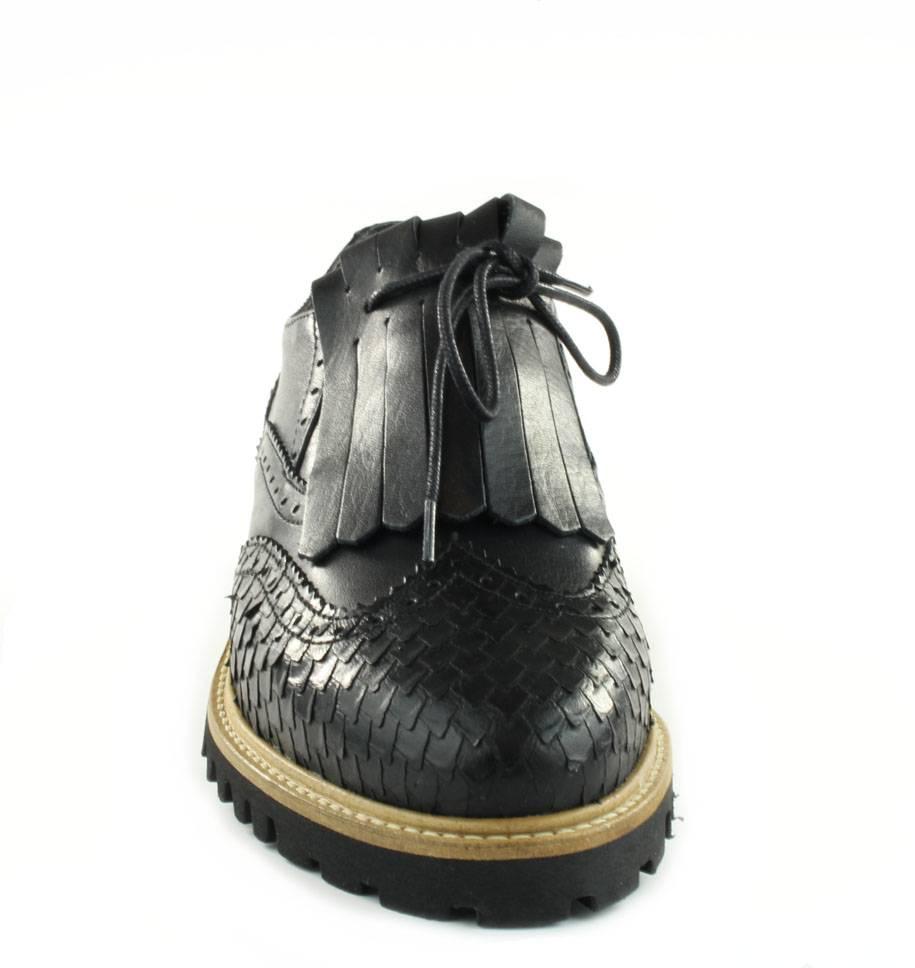 Leder Brogues Shoes Brogues Zwart Tango Tango Shoes Leder Zwart nBZE6OUU
