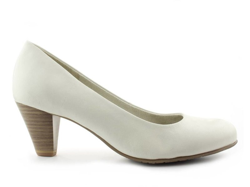 Tamaris pump off white leder