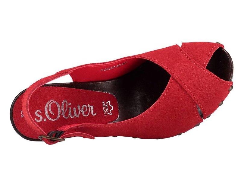 s.Oliver rode sandalen suede