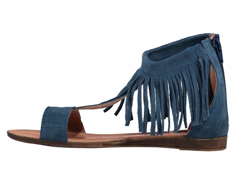 Marco Tozzi sandalen leder blauw
