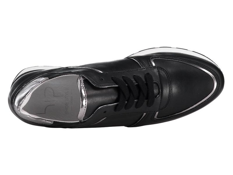 HIP zwarte sneaker leder