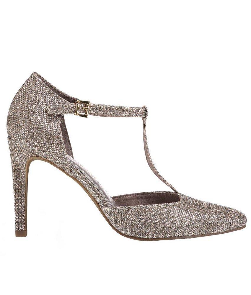 Marco Tozzi sandalen taupe metallic