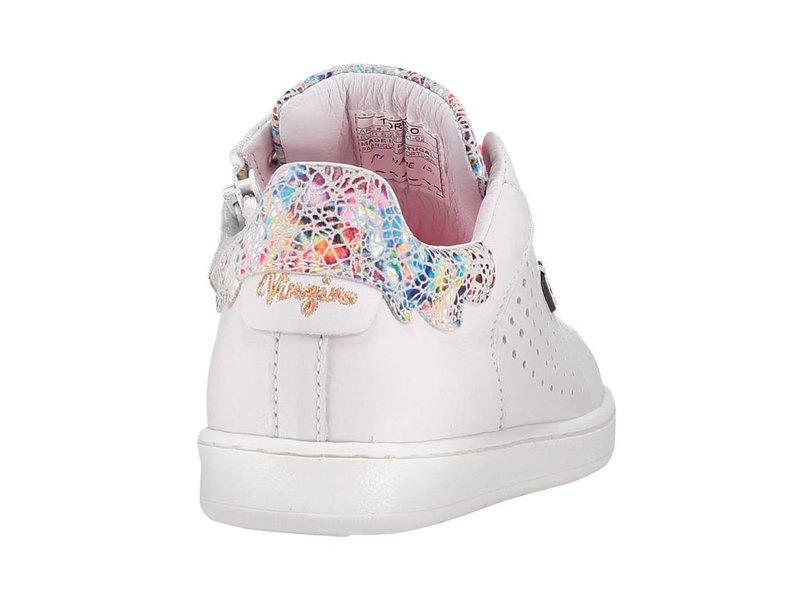 Vingino meisjes sneakers wit leder