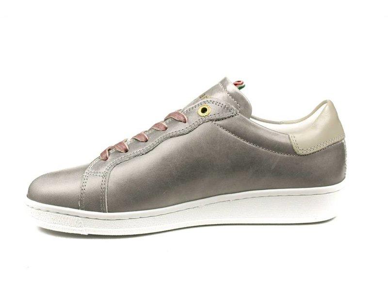 Pantofola d'Oro sneakers zilvergrijs/ taupe leder