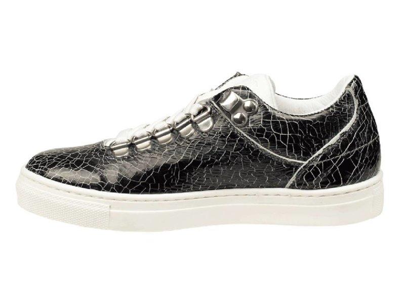 HIP sneakers zwart leder krakelee