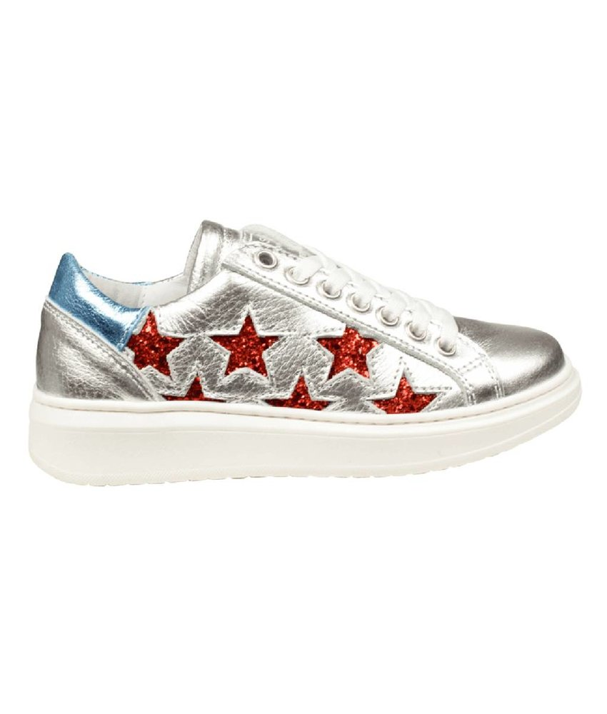 HIP sneakers metallic zilver
