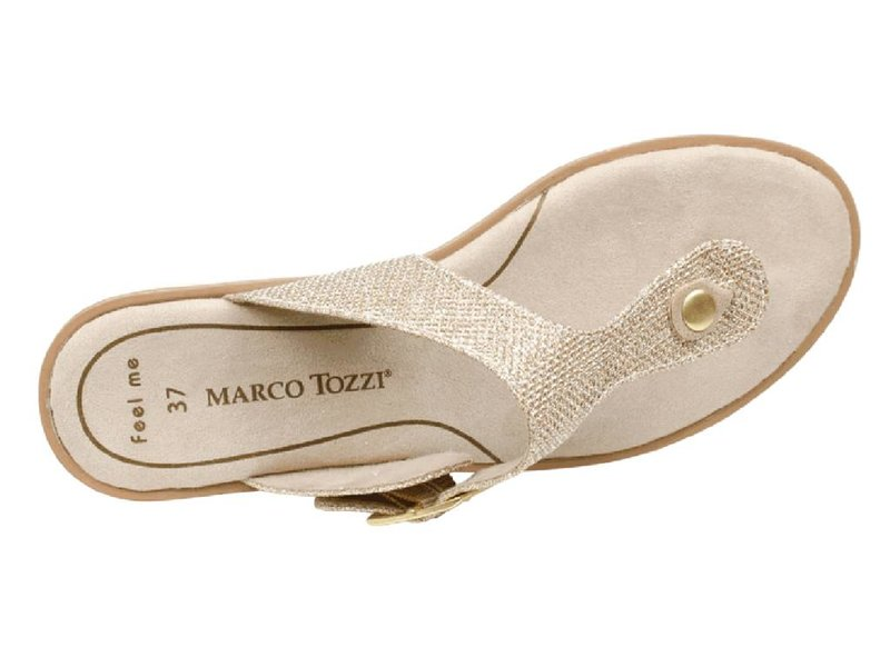 Marco Tozzi sandalen goud