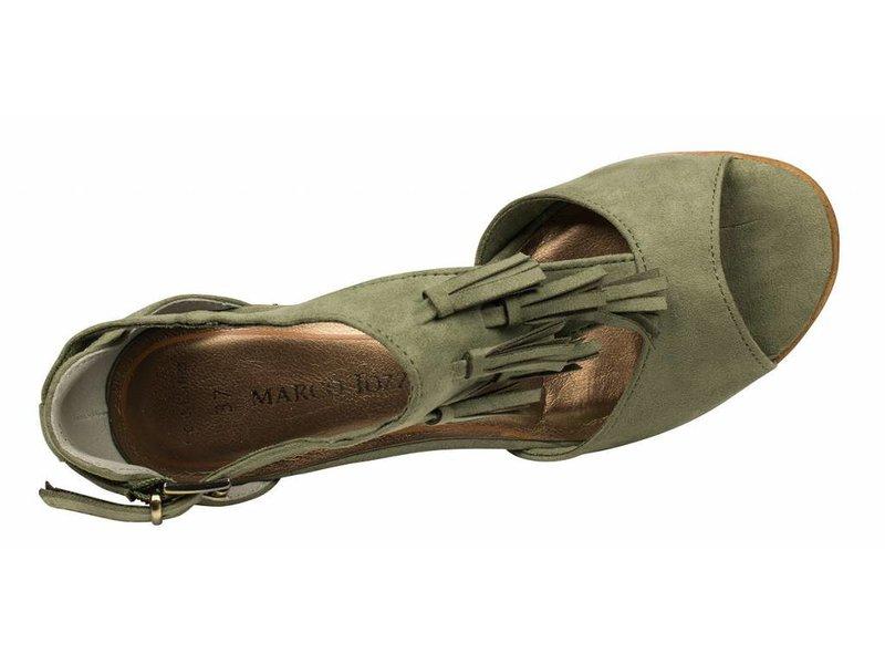 Marco Tozzi sandalen groen