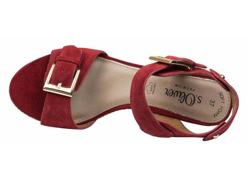 s.Oliver premium sandalen rood met gesp