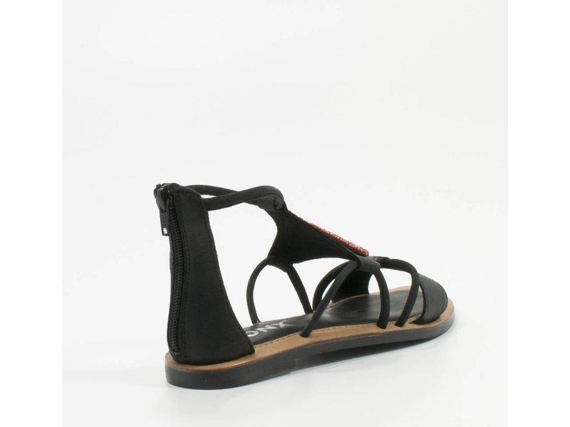 Bronx Boho sandalen met kraaltjes