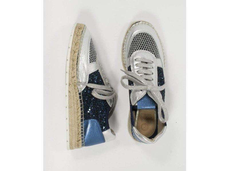 Vidorreta Espadrilles sneakers zilver/ blauw