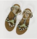 Vingino Hippe mint/zebra meiden sandaaltjes leder