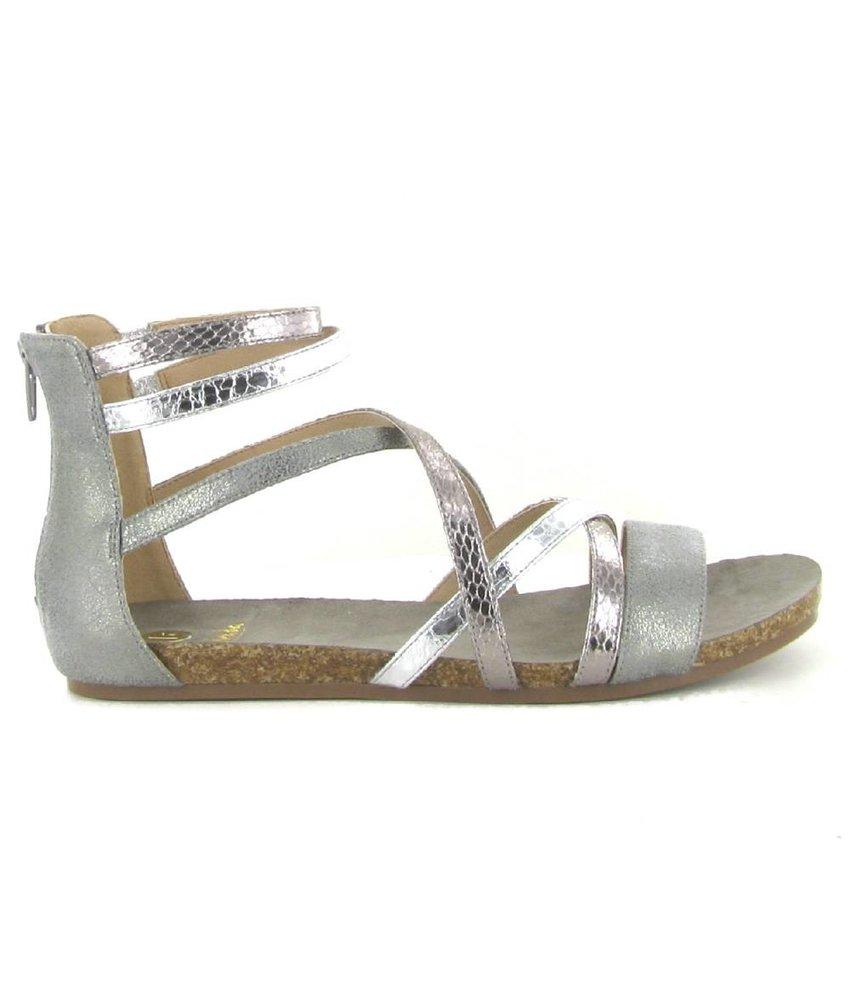 La Strada platte sandalen zilver