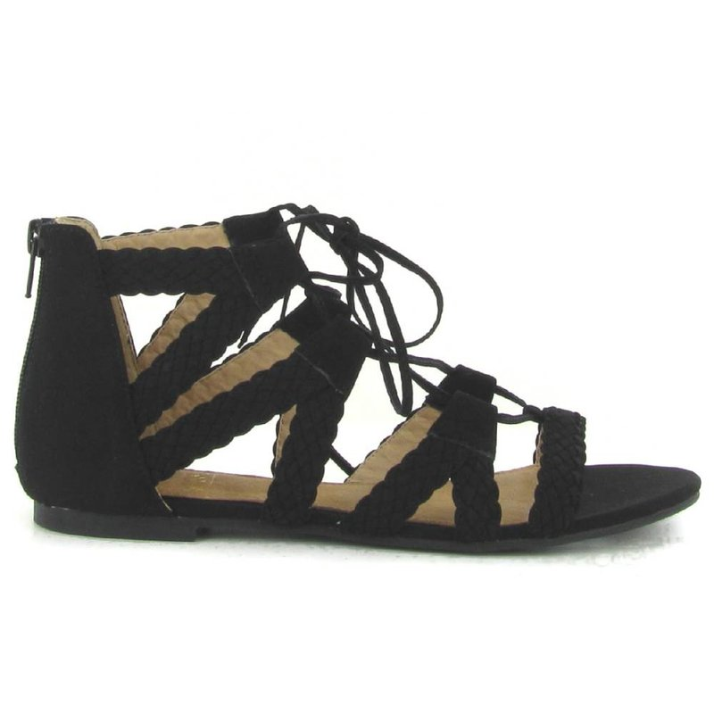 La Strada platte sandalen zwart