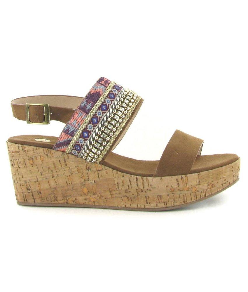 La Strada sleehak sandalen bruin