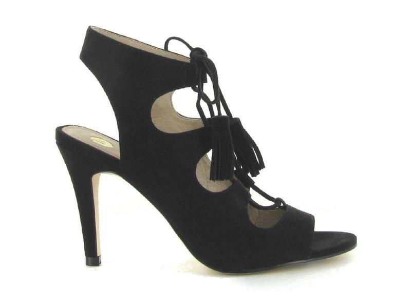 La Strada Sandalen met hak zwart