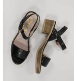 Bronx sandalen met lage hak zwart