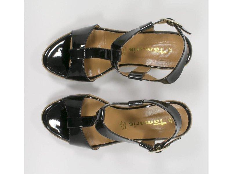 Tamaris leder sleehak sandalen