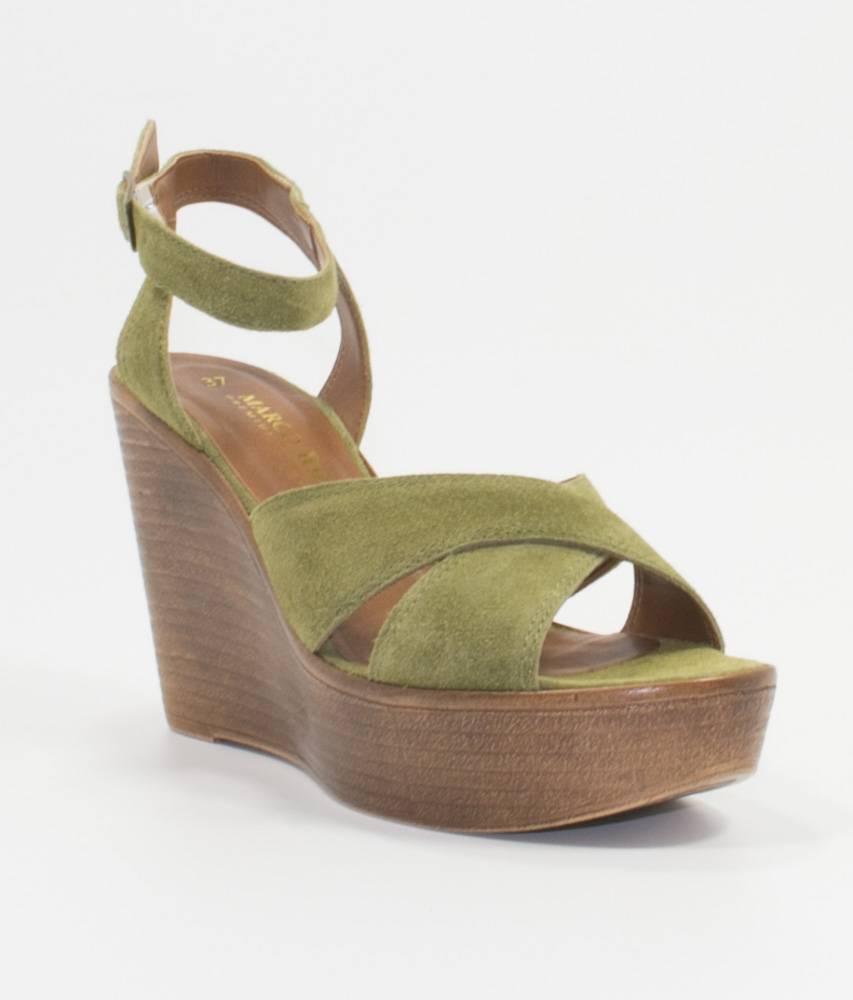 marco tozzi sleehak sandalen su de groen. Black Bedroom Furniture Sets. Home Design Ideas