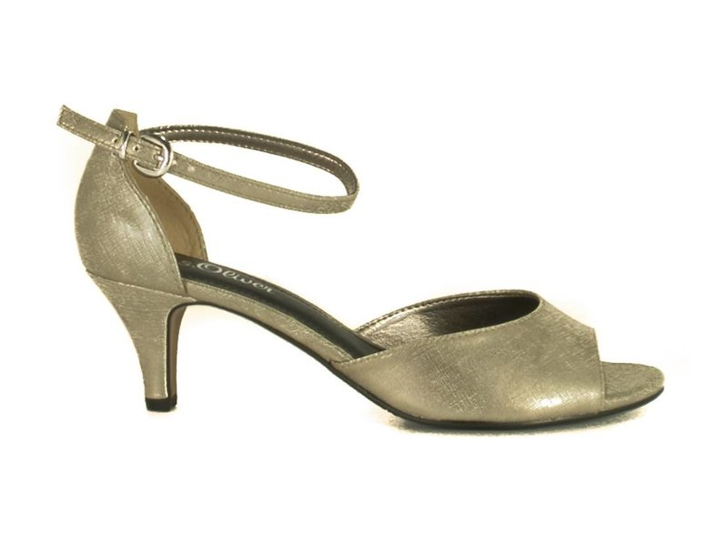 s.Oliver peeptoe pumps champagne