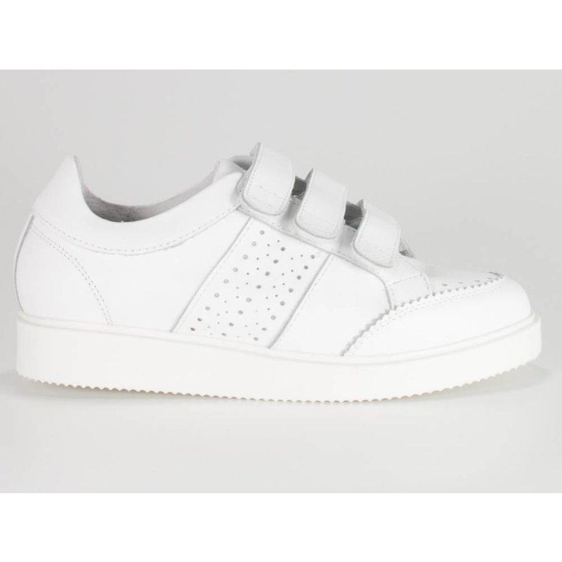 La Strada Brogue sneakers leder wit