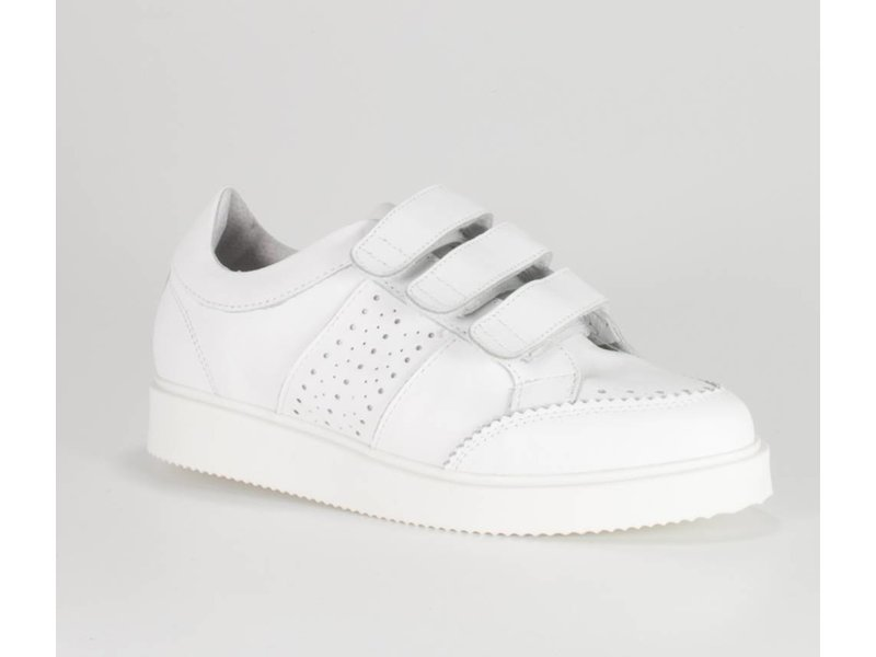 La Strada Sneakers met straps leder wit