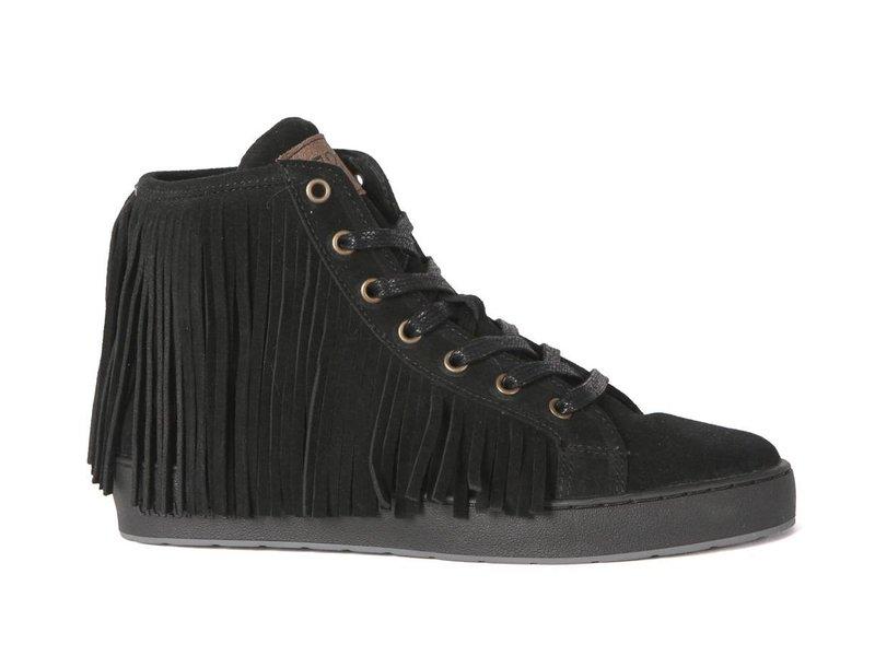 CYCLEUR de LUXE sneaker suede fringes zwart