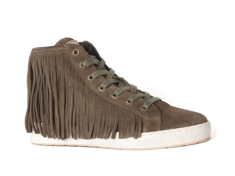 CYCLEUR de LUXE sneaker suede fringes bruin