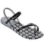 Ipanema fashion slippers zwart/zilver