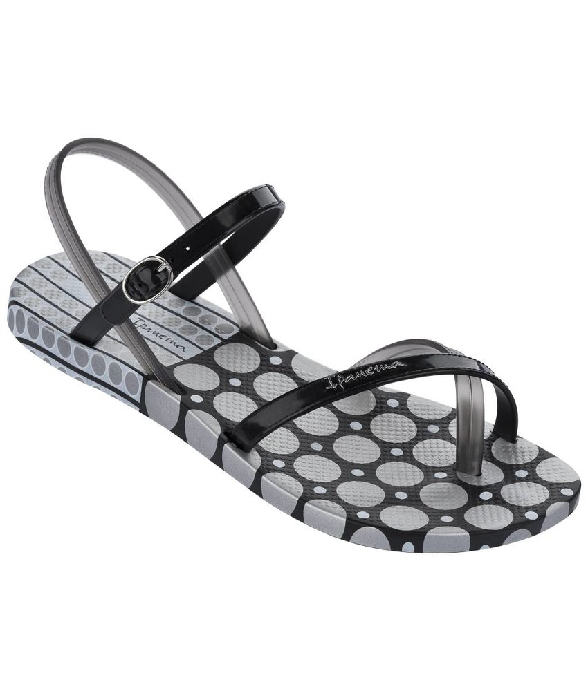 Ipanema fashion slippers zwart/zilver