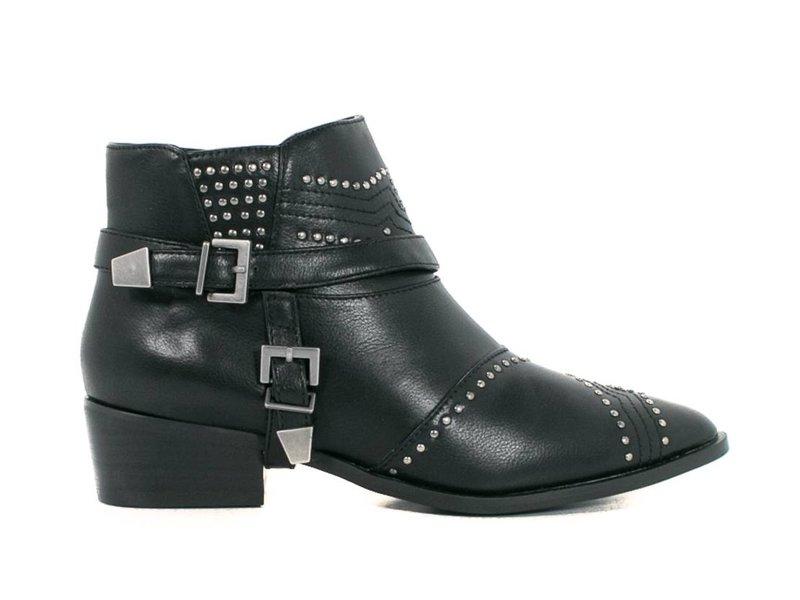 La Strada enkellaarzen met studs zwart