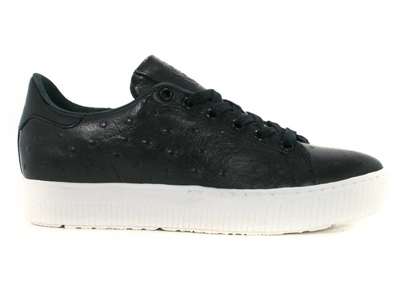 ShoeColate sneakers leder zwart  plateauzool
