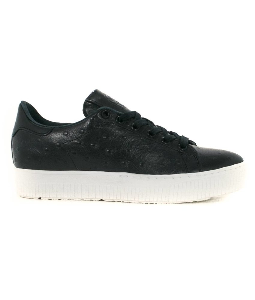 ShoeColate sneakers leder zwart  plateauzool