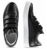 CYCLEUR de LUXE Heren sneakers  leder zwart met straps