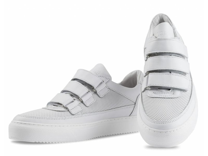 CYCLEUR de LUXE Heren sneakers  leder wit met straps
