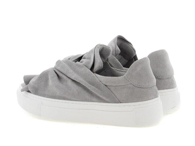 Bronx suède slip-on sneakers grijs