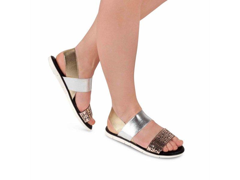 Sandalen rose goud zilver