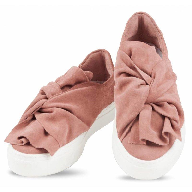 Bronx suède slip-on sneakers nude