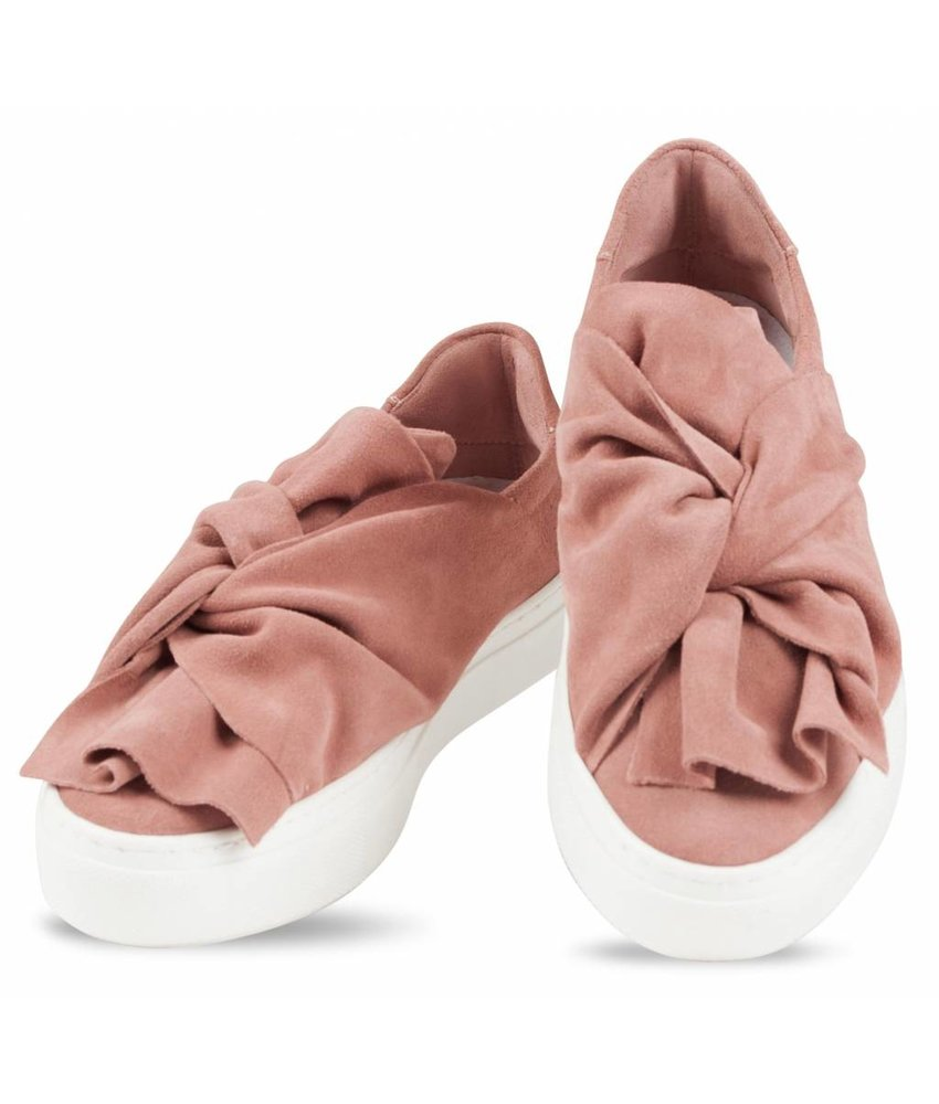 Bronx suède slip-on sneakers nude