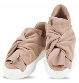 Bronx suède slip-on sneakers taupe