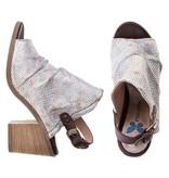 PintoDiBlu sandalen leder vintage zilver