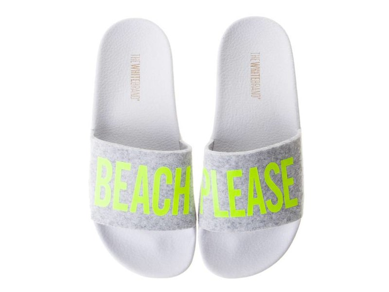 The White Brand slippers geel beach