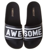 The White Brand slippers zwart awesome
