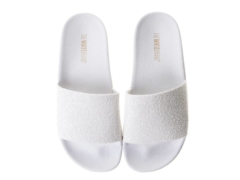 The White Brand slippers wit glitter