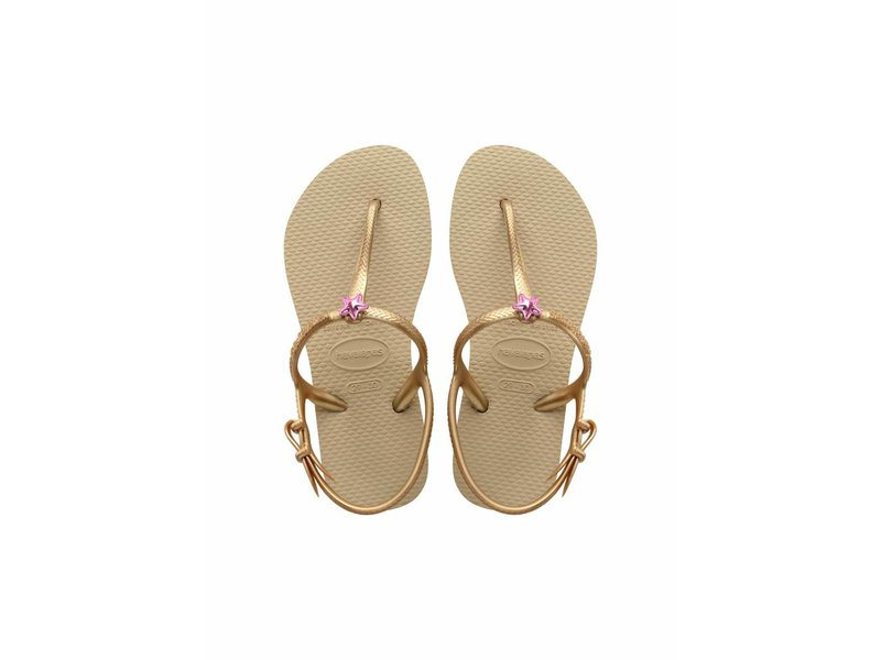 Havaianas kids freedom sand gold