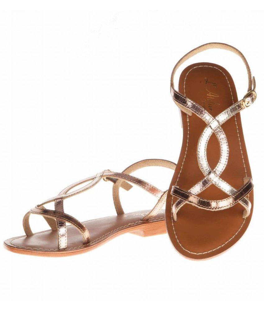 L'Atelier Tropezien sandalen silver multi