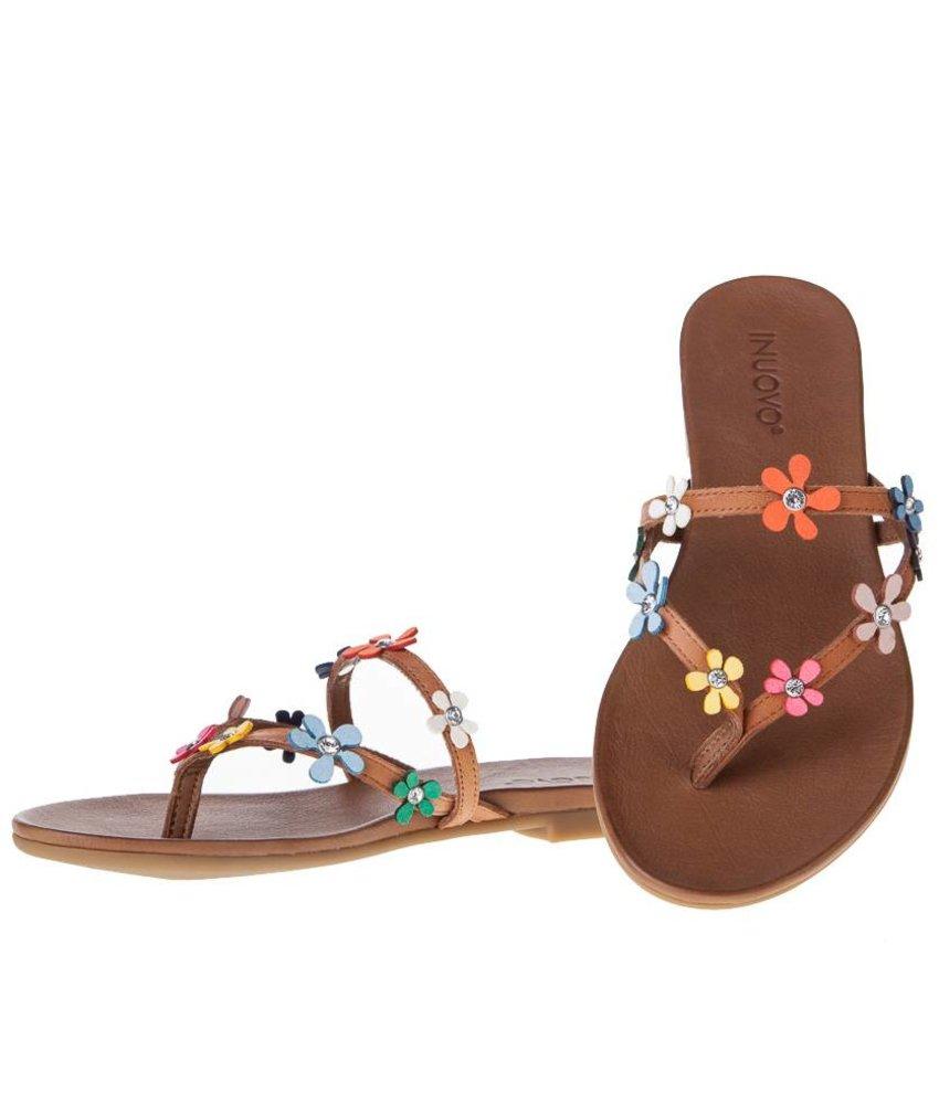 INUOVO sandalen gekleurde bloemen